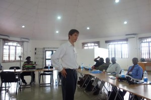 Advisor for the Partner for Peace, Mr Nate Haken addressing the participants