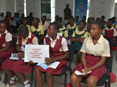 Cross section of students at the menstural hygine day event 2