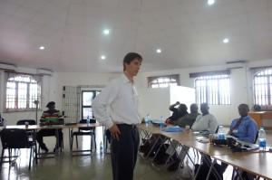 Advisor for the Partner for Peace, Mr Nate Haken addressing the participants