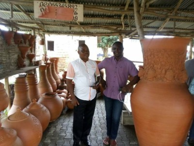 WASH Team Visits Atamora Village Pottery Centre