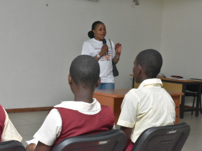Founder of Hopes and Dreams Initiatives facilitating the session