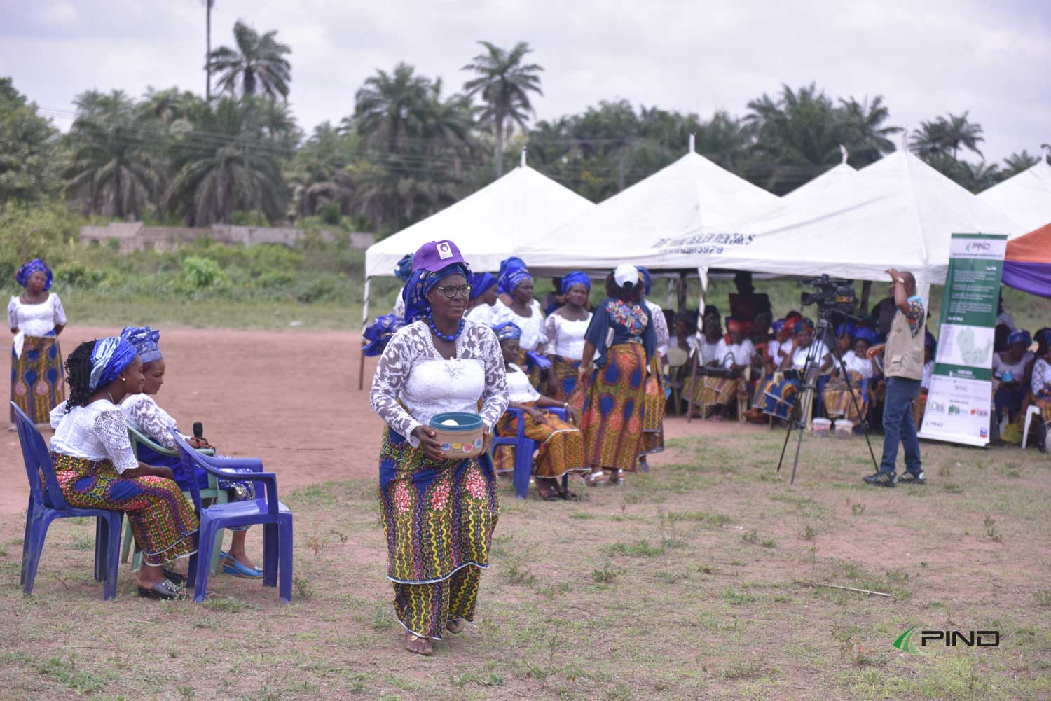 Members of Aladinma community women_s association performing a playlet at the international women's day 2018 event(1)