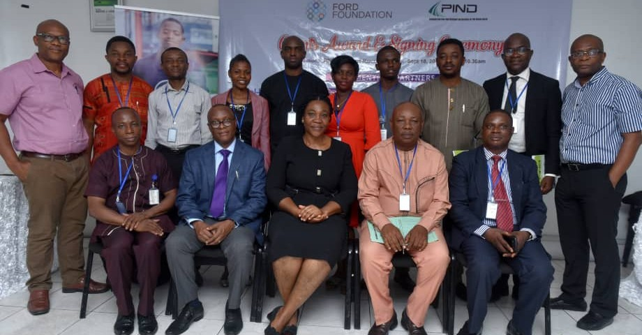 PIND awards sub-grants under NDYEP project to nine partner